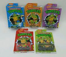 #1 Latest Release Teenage Mutant Ninja Turtle TMNT Hot Wheels Complete Set 2020