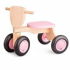 New Classic Toys - Drewniany rower czterokołowy balance różowy