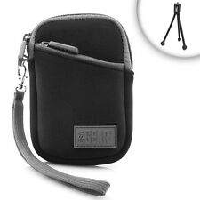 Durable Neoprene Case w/ Wrist Strap & Belt Loop for Pocket Cameras, Camcorders