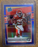 2020 Optic CLYDE EDWARDS-HELAIRE Blue Hyper Prizm Chiefs Rated Rookie RC