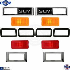 """68-69 Nova 68 Chevelle Side Marker Light Lamp Lens Bezel Gasket w/ Amber """"307"""""""