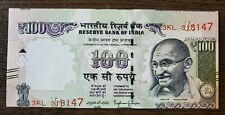 India - 100 Rs Error Note- Cutting Error - Part Of Next Note Seen On Top - Unc