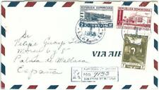 69253 - DOMINICANA - POSTAL HISTORY -  REGISTERED COVER  to  SPAIN  1953