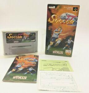 """Super Formation Soccer II Nintendo SENS Super Famicom """"SFC"""" original box 1993"""