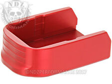 for Glock 1-4 Red Floor Plate 10RD 30, 30SF, 30S  Plain by NDZ