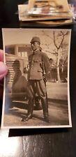 WWII ORIGINAL JAPANESE PHOTO ☆  ARMY OFFICER  SWORD BAG ☆SWORD SAMURAI ANTIQUE