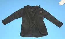 Cowboy Lawman jacket for 1:6 scale doll Western Frock Coat attached vest fit Ken
