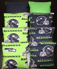 Cornhole Bean Bags made w Seattle Seahawks Fabric 8 Aca Reg Toss Game Bags