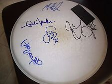 PEARL JAM SIGNED DRUMHEAD USED ON RECORDING OF AVACADO RELEASE ALL 5 RARE! L@@K!