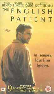 The English Patient, VHS Video Tape, Ralph Fiennes, Julian Wadham