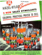 Hazel Atlas Glass-Orchard Crystal-History & Ads