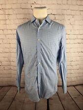 Banana Republic Men's Blue Plaid Cotton Slim Fit Dress Shirt MEDIUM $65