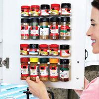 20 Kitchen Clip Spice Gripper Jar Rack Storage Holder Wall Cabinet Cupboard Door