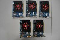 Lot of 5 Dell AMD Radeon HD6670 1GB GDDR5 VGA/DVI/DP WX52N 0WX52N Video Card