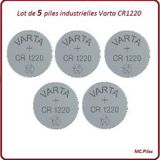 5 piles boutons CR1220 lithium Varta Industrielle, livraison rapide et gratuite
