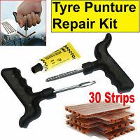 TYRE PUNCTURE REPAIR KIT 33 Pcs Car Van Motorcycle Emergency Heavy Duty Tool Kit
