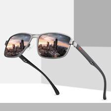 Sunglasses Men UV400 Polarized Rectangle Metal Frame Shades Summer