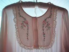 VINTAGE SHADOWLINE LINGERIE # 45 BEAUTIFUL BABY PINK WINTER LONG GOWN