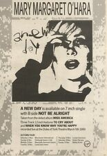 11/11/89Pgn35 Advert: Mary Margaret O'hara Brand New Single 'a New Day' 10x7