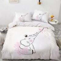 3D Cute Ballet Elephant Crown KEP5698 Bed Pillowcases Quilt Duvet Cover Kay