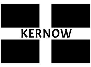 Cornwall Kernow Fridge Magnet 7.3  x 4.8 cm  Made in Cornwall, Cornish flag