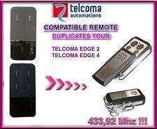 Telcoma Edge 2 / Telcoma Edge 4 compatible remote control, 433,92Mhz Clone