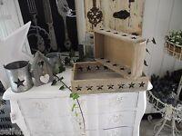 No1 Tablett Stern Schale filigran Weihnachtsgesteck Gesteck Holz shabby chic