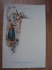MENU ART NOUVEAU CHAMPAGNE CHARLES RIVART à REIMS - 1900