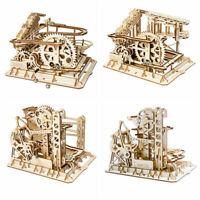 ROKR 3D Wooden Puzzle Marble Run Kits Laser Cut DIY Model Building Set for Adult