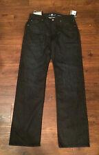 NWT $178 7 For All Mankind Mens Austyn Black Denim Jeans Size 32 x 34