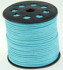 9.1m 3mm bleu Suede Leather à cordes Joaillerie Artisanat Fil Cordons