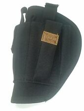 Left Hand Gun Pistol Holster with Pouch For 2 Magazines and Light BLACK