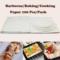 100x 3.5/8/10/12 inch White Non-Stick Barbecue paper silicone paper Baking paper