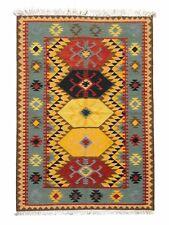 New Afghan Oriental Handwoven Ghazni Wool Kilim Carpet Area Rug 4 x 6 Ft