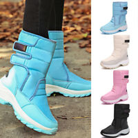 Women Winter Warm Mid-Calf Snow Boots Fur Lining Waterproof Platform Rain Shoes