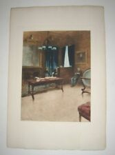 1893 Art Print by A Castaigne Photogravure Meeting With Banker & Thoughftulness