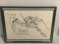 Vintage US Army Recon Hand Drawn Framed Art Signed By Artist