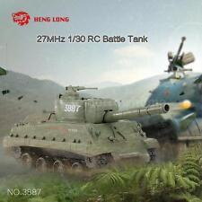 Original HENGLONG NO.3887 27MHz 1/30 Fire Ball Bullet Shooti RC Battle Tank W3R1