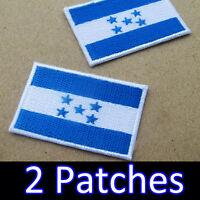 HONDURAS FLAG Iron-on PATCH CATRACHO CENTRAL ARMY AMERICAN EMBLEM B /& W Color