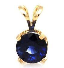 Sapphire Yellow Gold 14k Fine Necklaces & Pendants