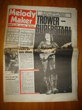 MELODY MAKER 1975 FEB 22 ROBIN TROWER JOHN LENNON