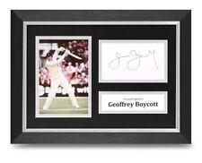 Geoffrey Boycott Signed A4 Framed Photo Display Cricket Autograph Memorabilia