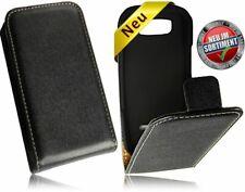 Premium pu cuero vertical móvil cartera Flipstyle negra, funda nokia asha 305