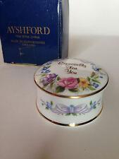 "1960s Ayshford Staffordshire England  ""ESPECIALLY FOR YOU"" 24K Gold Trinket  Box"