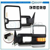 Towing Power Led Signal Chrome Side Mirrors For 88-98 Chevy GMC C/K Truck Pair