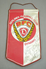 GDR Pennant Berliner Foot Ball Club Bfc Dynamo Very Autographs Autograph (K95)