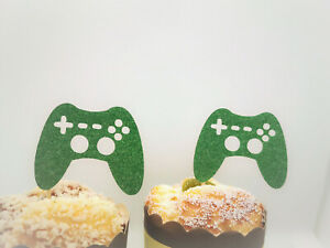 Video Game Controller Cupcake Toppers,Video Game Party Decorations,Video Game