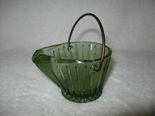 Vintage Green Coal Bucket Ashtray with Wire Handle Continental Can Company