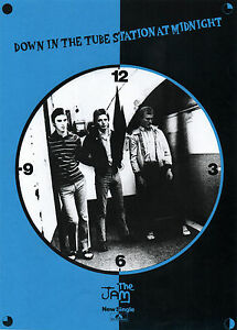 JAM T-SHIRT, DOWN IN THE TUBE STATION AT MIDNIGHT. Mod, Punk, Paul Weller.