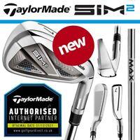 TaylorMade SIM 2 Max Men's Irons Steel KBS MAX MT85 - NEW! 2021